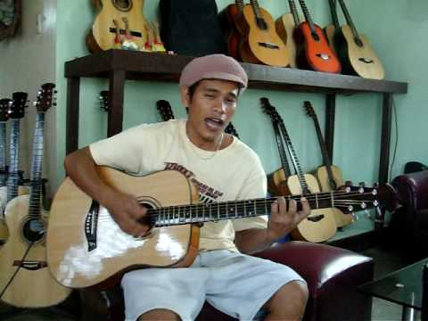 Jerry's Guitar, Cebu Philippines - Luvy Playing The Guitar I Bought