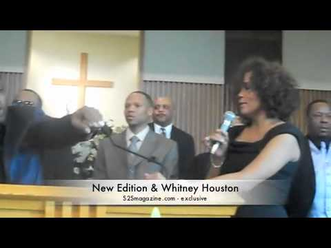Johnny Gill and Whitney Houston perform at Carole Brown's funeral
