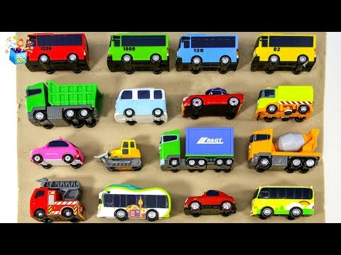 Learning Color Disney Pixar Cars Lightning McQueen Tayo Bus Vehicle sand Play for kids car toys