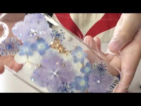 【UVレジン】妖精がとまる紫陽花スマホケース resin BGM
