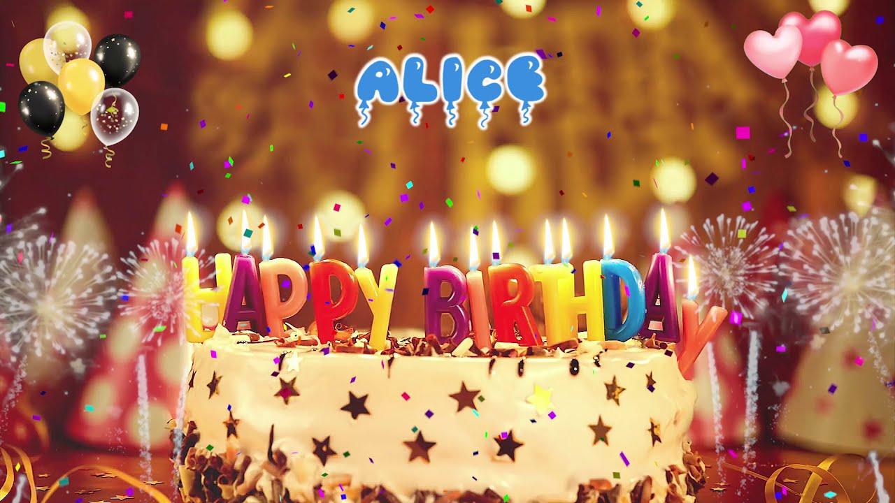 ALICE birthday song – Happy Birthday Alice