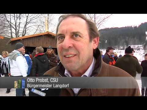Waghalsige Niederbayern - Zugschlittenrennen in Langdorf