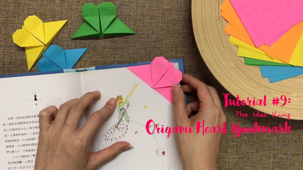 how to make origami heart bookmark step by step? | the idea king