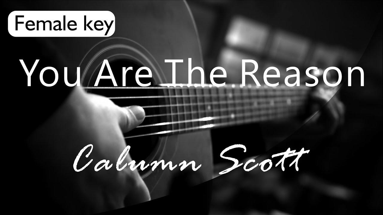 You Are The Reason - Calum Scott Female Key ( Acoustic Karaoke )