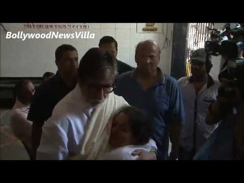 Amitabh Bachchan attends Aadesh Shrivastava's FUNERAL.
