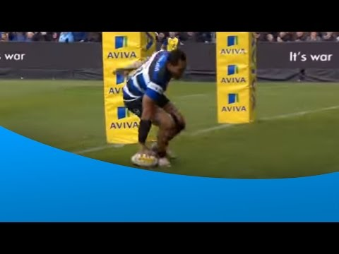 Robbie Fruean's first Premiership Rugby try