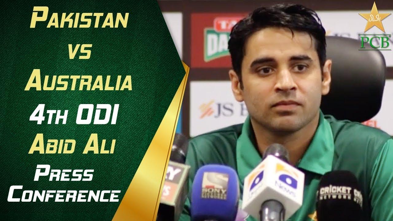 Pakistan vs Australia 4th ODI - Abid Ali post match press conference | PCB
