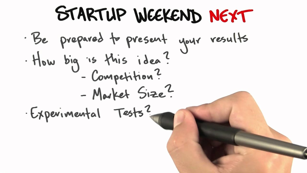Startup Weekend Next - How to Build a Startup