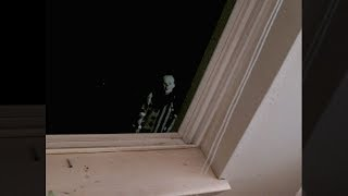 scary stalker clown stares at me through my window! (SO SCARY)