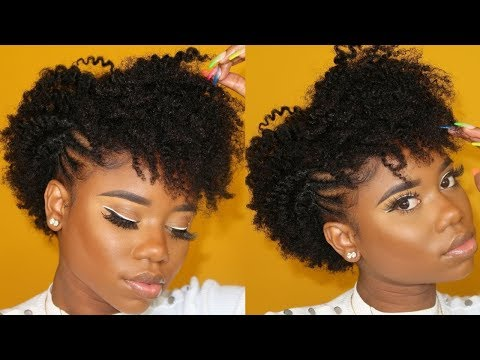 EVERYDAY HAIRSTYLE FOR SHORT (Awkward length) 4C/B Natural Hair thumbnail