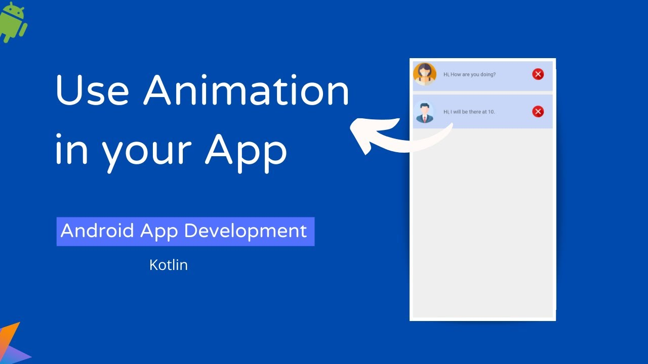 Use Animation in Android App | Animation Tutorial using Android Studio