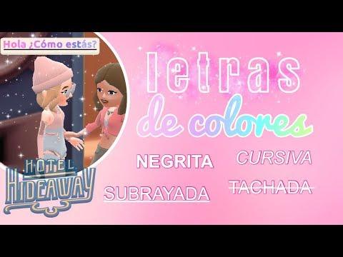Como Escribir De Colores, Negrita, Cursiva, Subrayado Y Tachado En Hotel Hideaway ♡