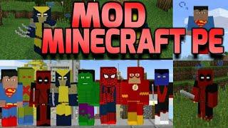 Mod com vários super Heróis Para Minecraft PE 1.2! Mod dos super heróis para Minecraft PE 1.2!
