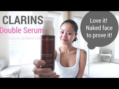 Clarins Double Serum helped my acne!! before and after! - no make up review