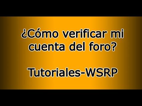 ¿Cómo comprobar mi cuenta en el foro? Tutoriales-WSRP