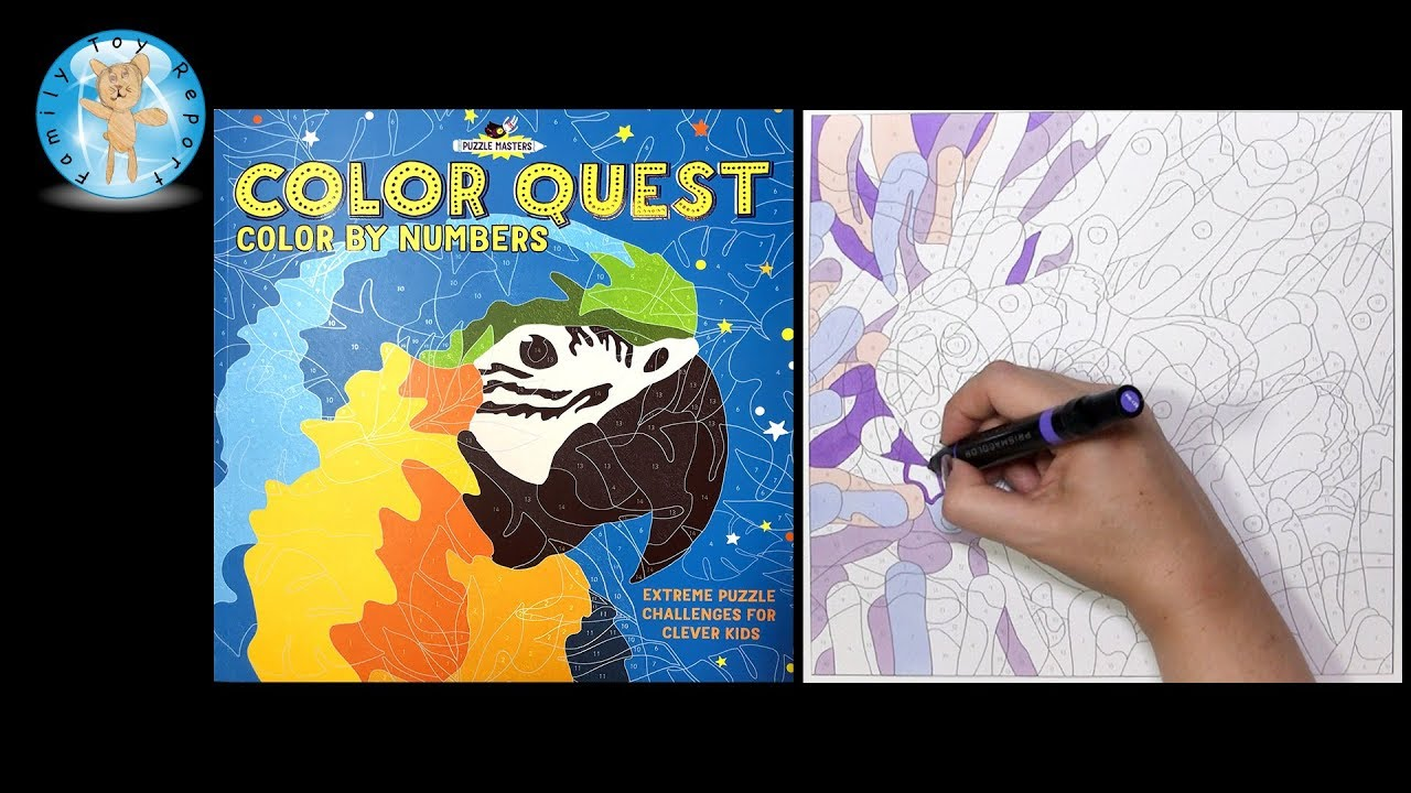 Barron\'s Color Quest Color By Number Puzzle Book Speed Coloring ...