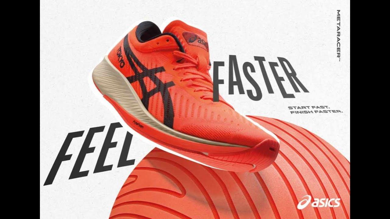 METARACER : la chaussure avec plaque carbone par Asics
