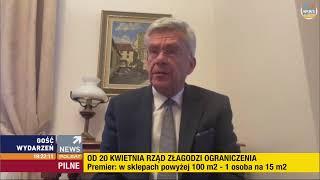 Koronawirus - konferencja premiera Mateusza Morawieckiego