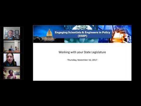 ESEP Webinar  Working with your State Legislature