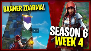 WHERE is the SECOND FREE BANNER for the SEASON 6 (Week 4)-Fortnite Battle Royale CZ/SK