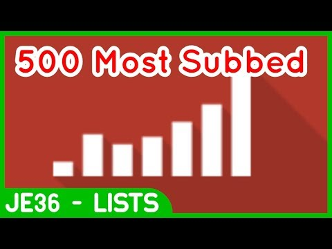 Top 500 Most Subscribed YouTube Channels...