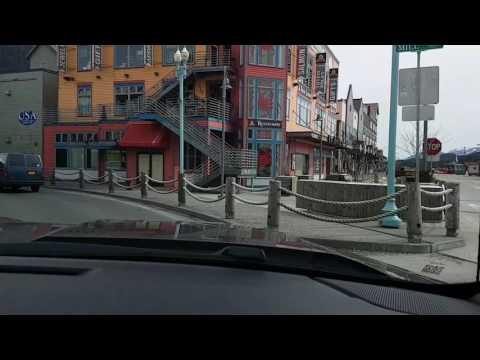 Driving around Ketchikan Alaska