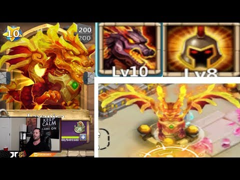 LAVANICA New Dragon GAMEPLAY Maxed Out INSANE Castle Clash