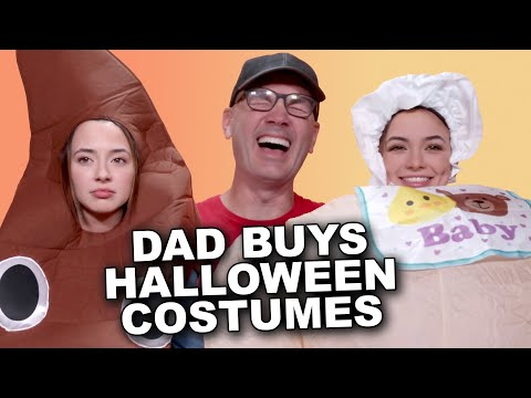 Dad Buys Our Halloween Costumes! – Merrell Twins