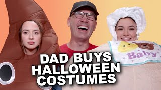 Dad Buys Our Halloween Costumes! - Merrell Twins