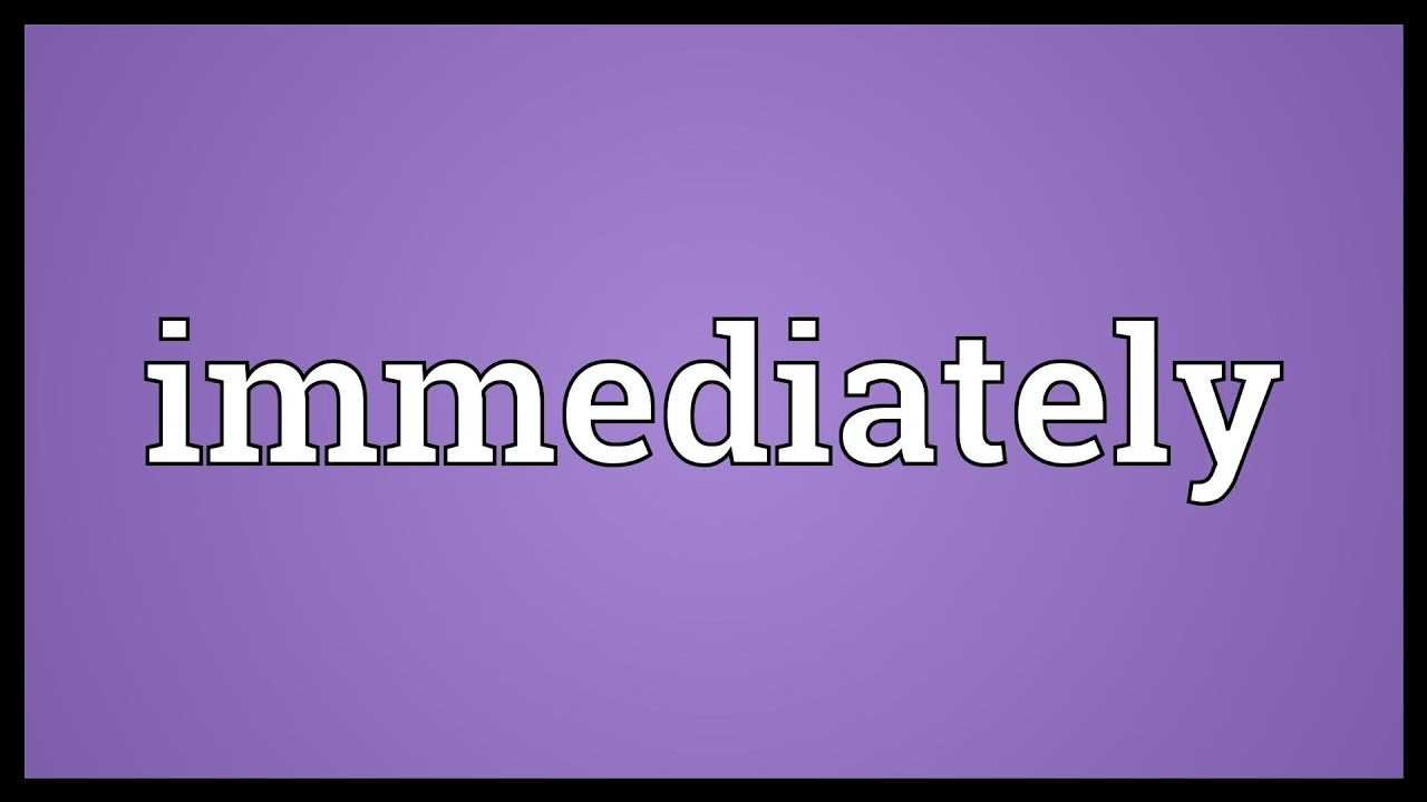 Pronunciation Immediately Meaning Youtube