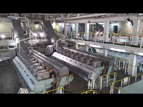Engine room of LNG vessel with Electric Propulsion (DFDE)