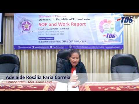 "Testimony Training ""SOP and Work Report"" by Adelaide Rosália Faria Correia"