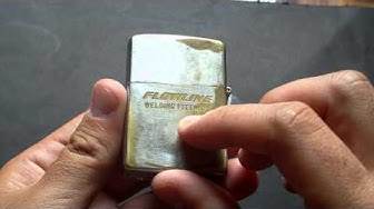 1958 Vintage ( old ) chrome zippo review