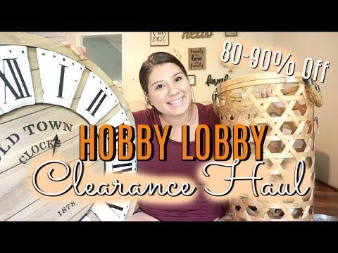 Hobby Lobby Haul 80-90% OFF!!! I HIT THE JACKPOT!