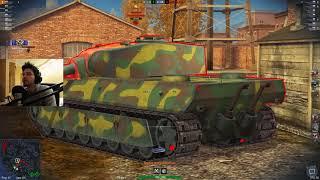 woT Blitz - Ветка картонных тяжей. Три боя на AMX 50 100 - World of Tanks Blitz (WoTB)