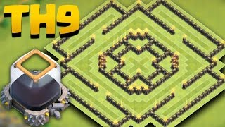 Town Hall 9 New Dark Elixir Farming Base (TH9 Best De Saving) + Replays
