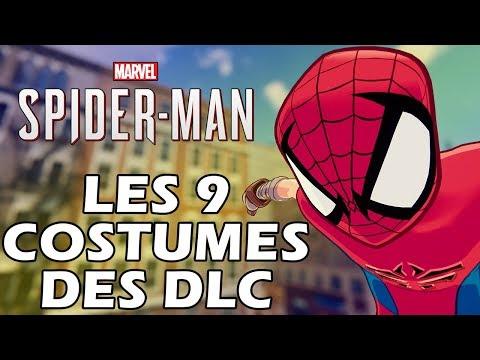 SPIDERMAN PS4 FR | Tous les Costumes des DLC (4K)