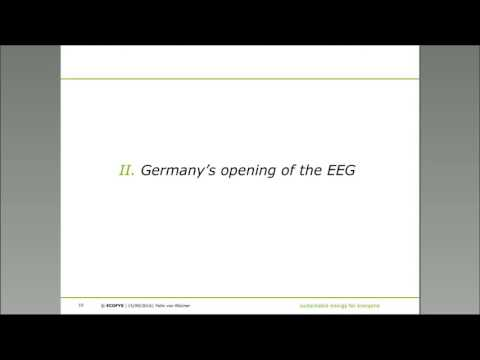 Cross-border renewables auctions: Germany's opening of the EEG