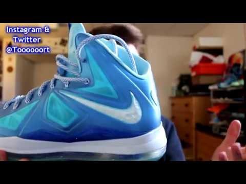 Lebron 10 Blue Diamond Review & On Feet!