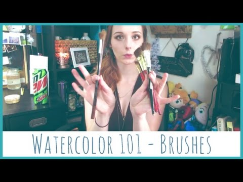 Watercolor 101 Materials - Brushes