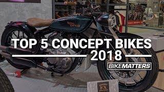 TOP 5 CONCEPT BIKES 2018 - 2019 Royal Enfield KX Bobber Concept, Kymco SuperNex & more!