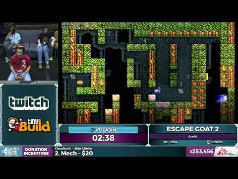 Escape Goat 2 by Vulajin in 0:18:14 - SGDQ2016 - Part 64 [1440p]