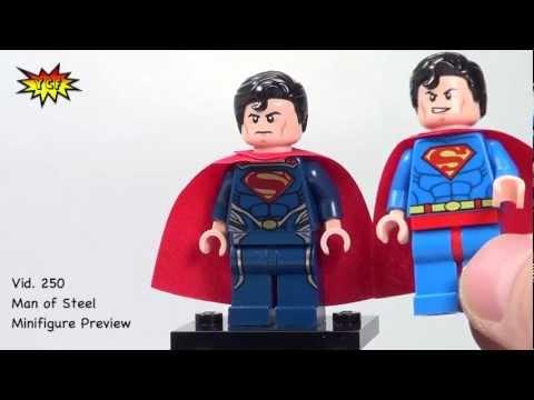 MAN OF STEEL version minifigure DC SUPERHEROES set 76002 76003 LEGO SUPERMAN