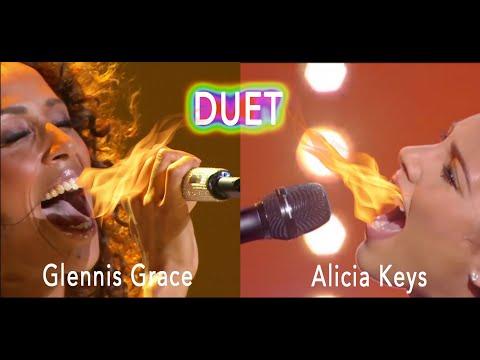 Glennis Grace DUET Alicia Keys Singing 'Girl On Fire'