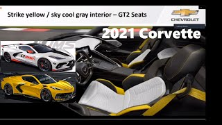 2021 C8 corvette Strike yellow sky cool gray Sliver Flare Metallic