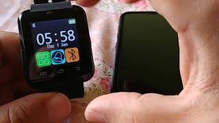 How to pair U8 smart watch to Samsung Galaxy S9