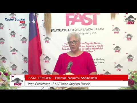 FAST Party Leader Hon. Fiame Naomi Mataafa rejects request for new elections by Head of State
