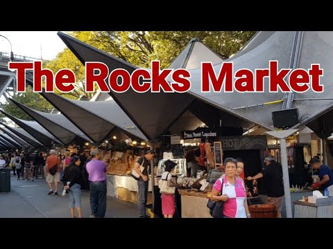 The Rocks Market Sydney Australia. Buy Australian Souvenirs.