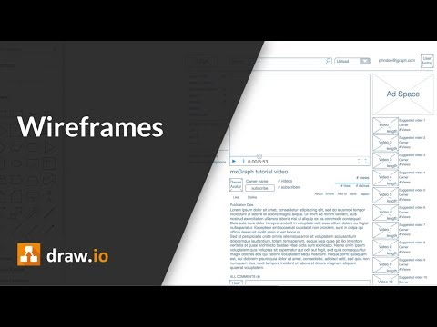 Create wireframes and mockups in draw io