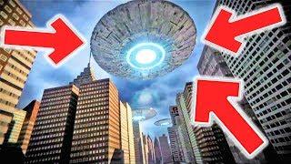 НЛО над Нью Йорком - Корабель Прибульців, Зйомка Очевидців 2019 HD (UFO)